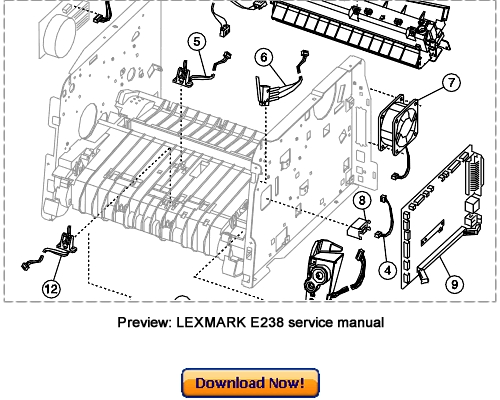 Product picture LEXMARK E238 E240 E240n E340 E342n Service Repair Manual Dow